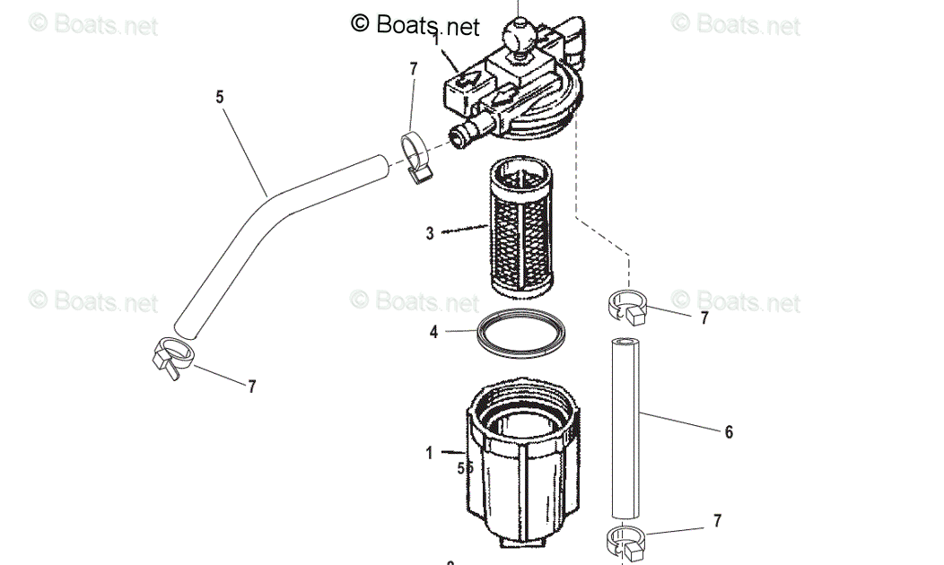 Mercury Outboard Fuel Filter Chart