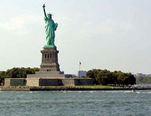 The Statue of Liberty in Ellis Island, New-York