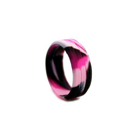 Camo Silicone Ring, Outdoor Wedding Bands, Camo Silicone