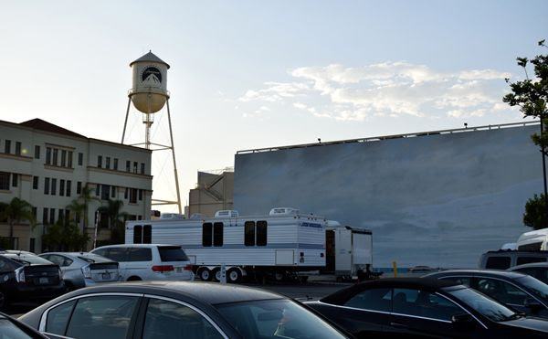 A snapshot of the water tower and blue sky tank at Paramount Pictures in Hollywood...on July 31, 2017.