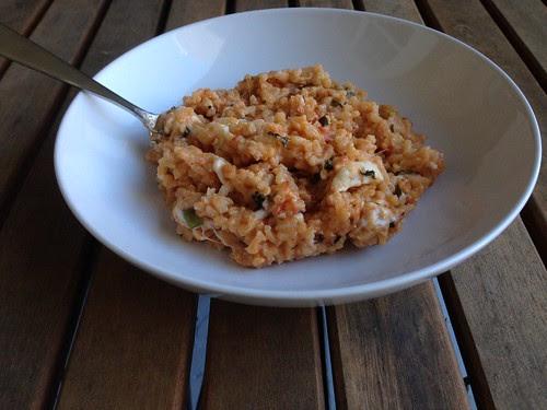 caprese risotto bowl