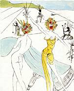 Salvador Dalí - Flower Woman with Soft Piano: From the Hippies Suite (Prints)