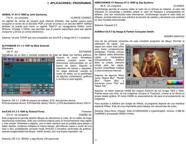 Guía aplicaciones Amiga