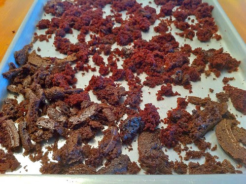 Spread Leftover Bits on Cake and Freeze