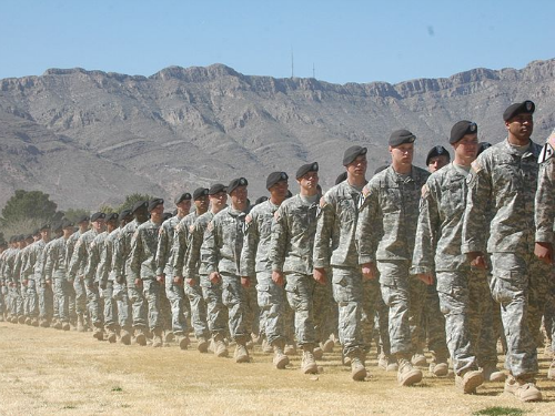 us army marching