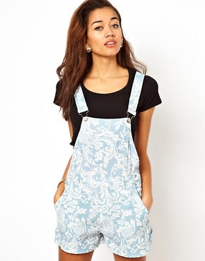 Image 1 ofMotel Demi Dungarees In Paisley Print