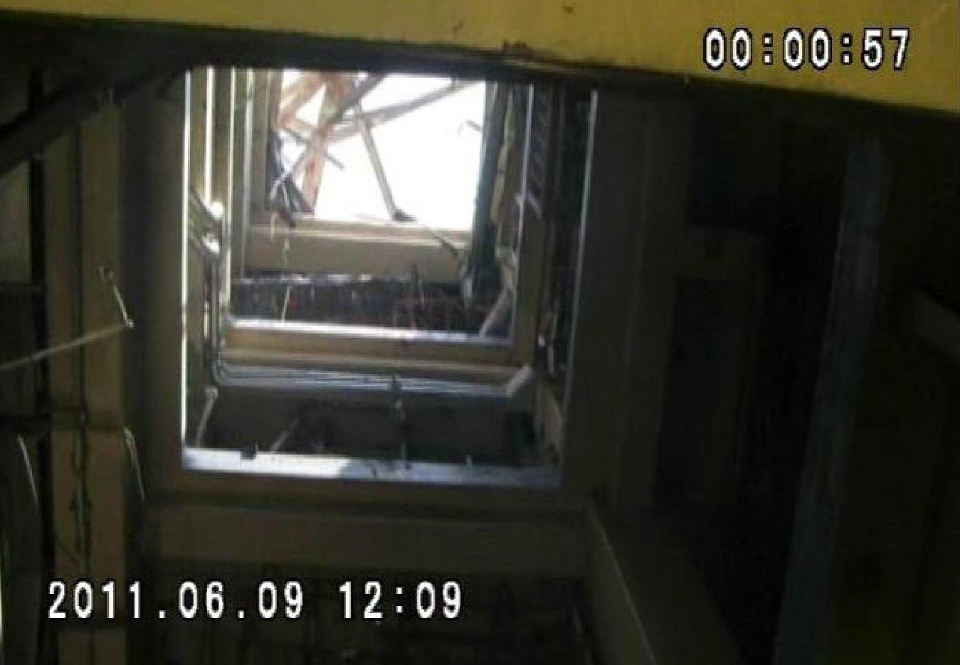 Fig. 90 : Sas d'accès matériel du BR4 (Instantané d'une vidéo de visite du BR4 en juin 2011)