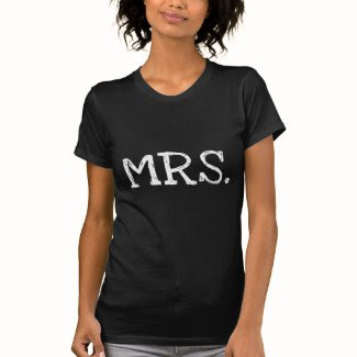 Bride White Text Mrs. T-shirts