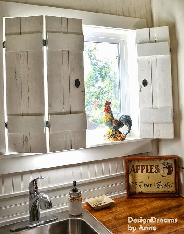 Make charming window shutters for $10! - Design Dreams by Anne featured on www.ilovethatjunk...
