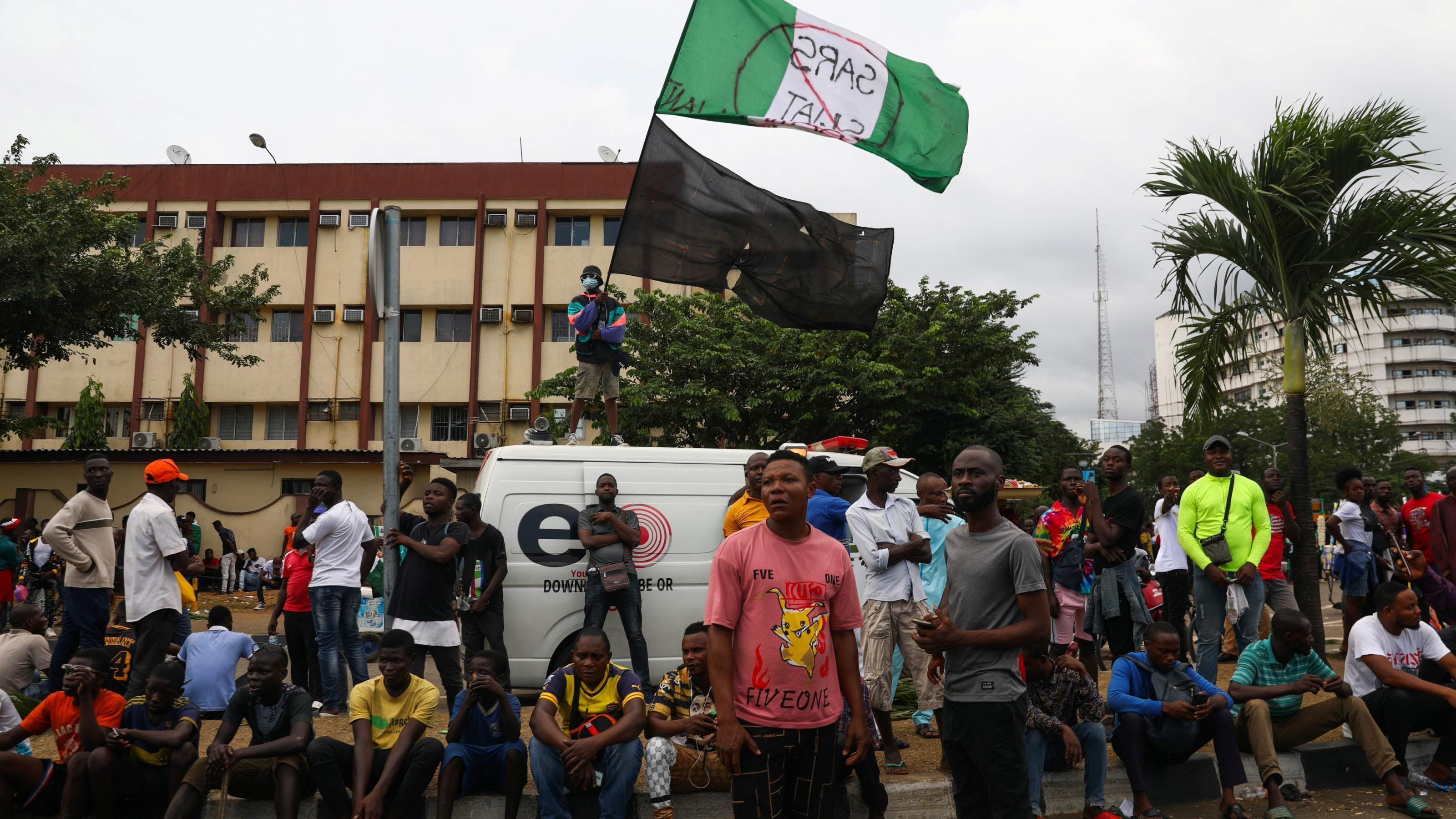#ENDSARS Demonstrators gather in Lagos