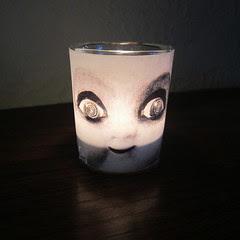 Creepy Doll Candle