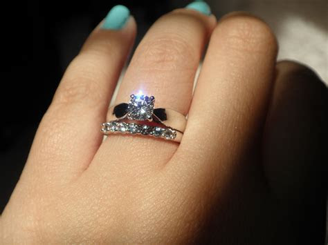 Warm colored diamonds in platinum/white gold settings