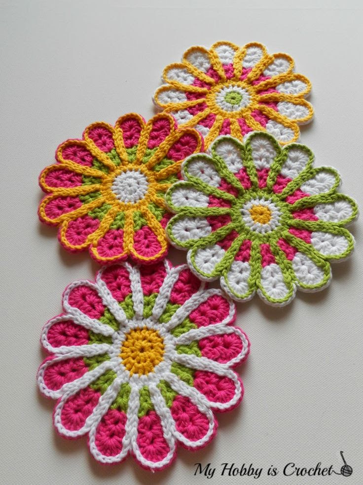 chrysanthemum flower coaster