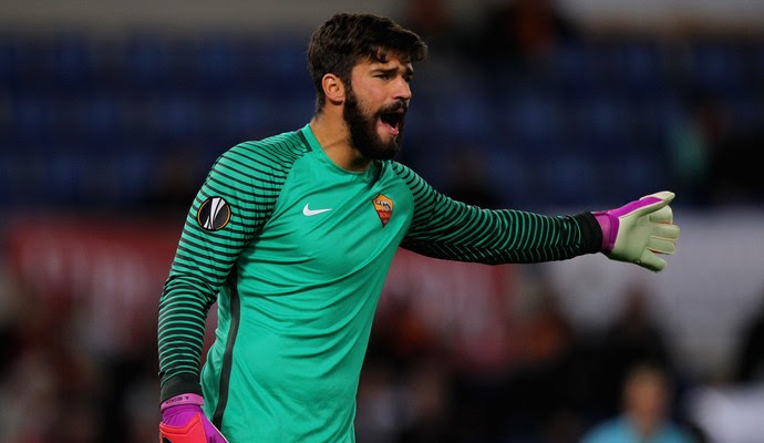 Alisson Roma x Viktoria Plzen (Foto: Paolo Bruno/Getty Images)