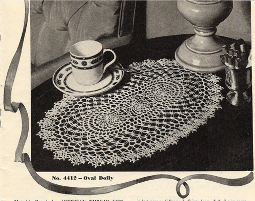Vintage Oval Doily Crochet Pattern
