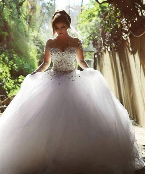 Aliexpress.com : Buy Elegant Luxury Bride Long Sleeve Ball