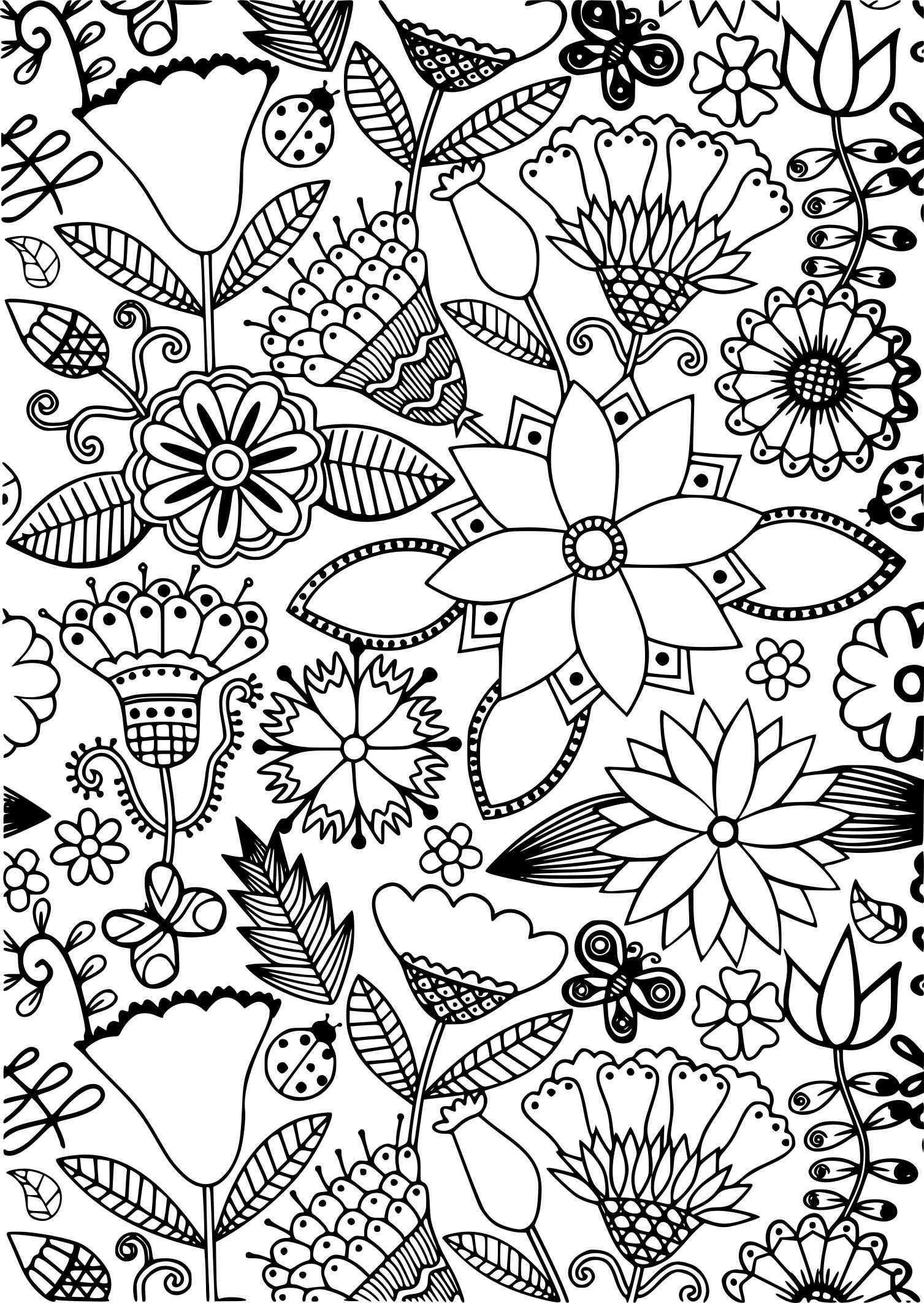 Belle Coloriage Anti Stress Fleur Haut Coloriage Hd Images