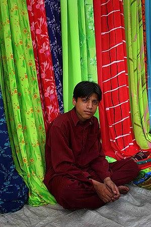 Textiles market in Karachi