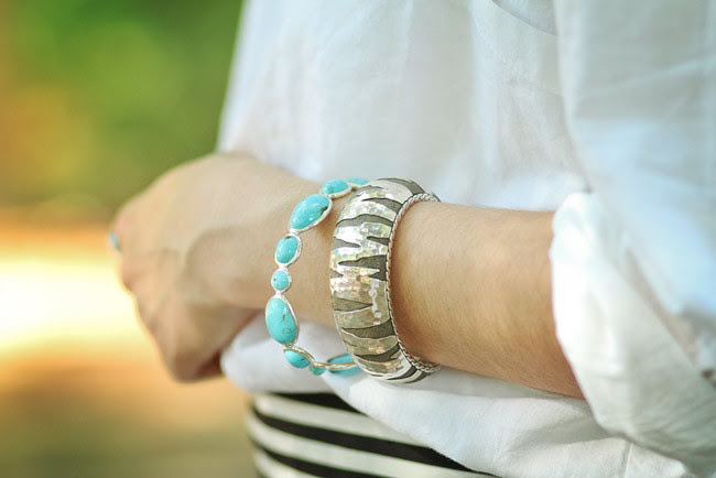 John Hardy Silver Tiger Cuff, Ippolita turquoise Sculture collection, Fashion Jewelry