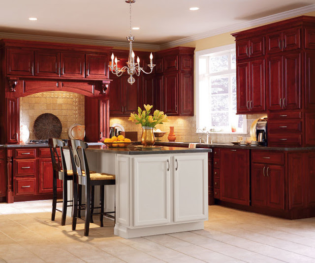 Schrock Cabinetry: Cherry Cranberry - Traditional ...