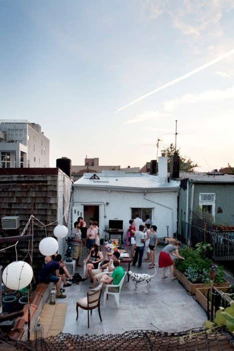 rooftop terrace party
