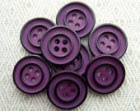 """Mod Vintage Sewing Buttons - Autumn Purple with Black Rings - Two Tone Plastic Sew Through 5/8"""" 3/4"""" x8"""