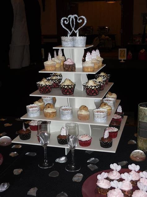 Square Cupcake Tower. BonNoces 5 Tiers Square Acrylic