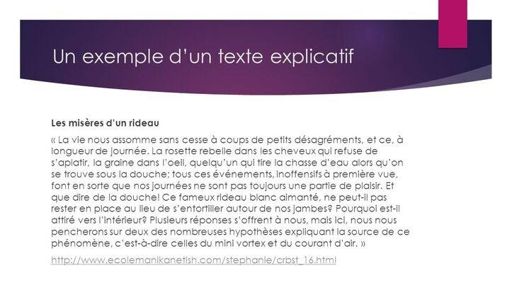 Exemple De Texte Explicatif Sur Le Voyage - Exemple de Texte