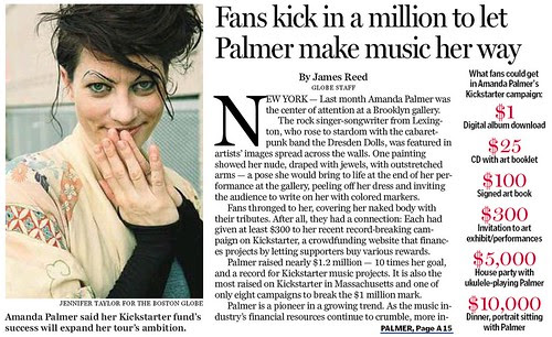 Fans kick in a million to let Palmer make music her way by stevegarfield