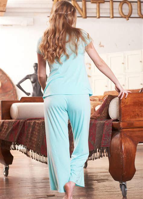 layla mint blue maternitynursing pyjama set  floressa