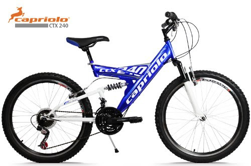 mountainbike 24 zoll ctx240 vollgefedert 18 gang shimano kinderfahrrad farbe blau weiss test. Black Bedroom Furniture Sets. Home Design Ideas
