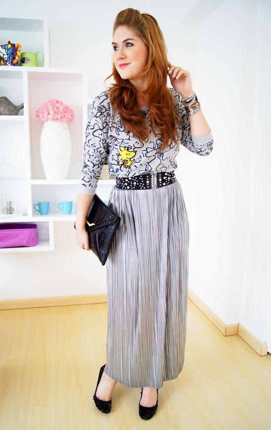 Silver Maxi Dress