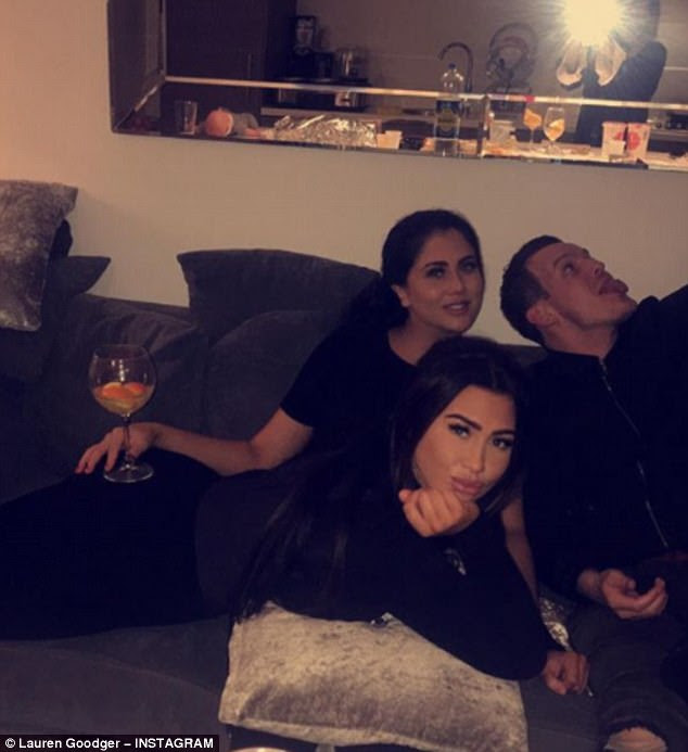Hint, hint: And on Tuesday, Lauren Goodger teased fans with a glimpse into her romantic life as she revealed she had spent Boxing Day with her jailbird on-off beau Joey Morrisson's brother and sister - while also confessing to having a totally sober Christmas
