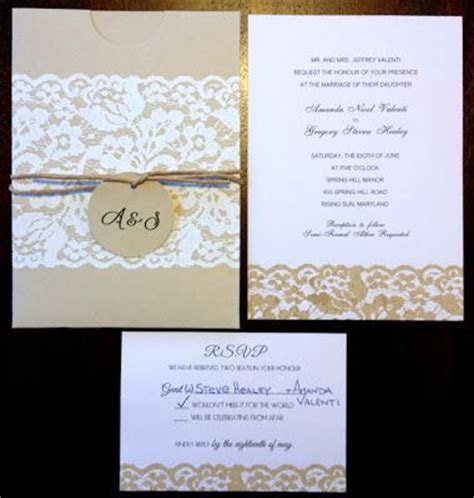 Rustic DIY wedding invitations Tag: cheap inexpensive