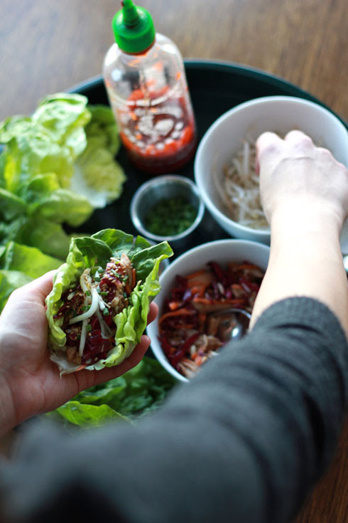 asian chicken lettuce wraps 4
