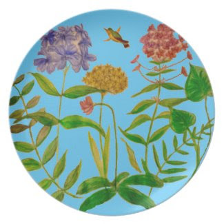Botanical Illustration on Dinner Plates