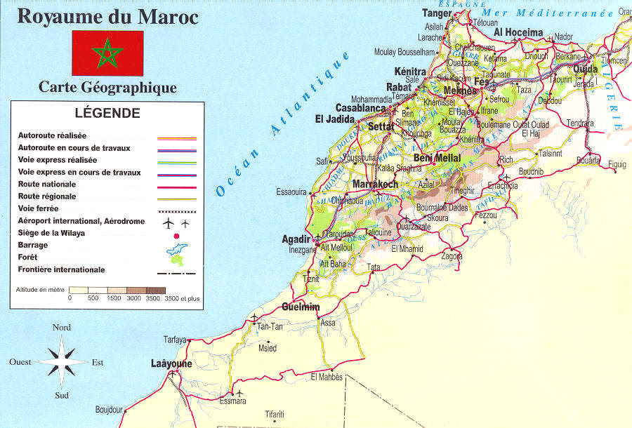 carte routiere maroc avec kilometrage 25 Inspirant Carte Maroc Routiere
