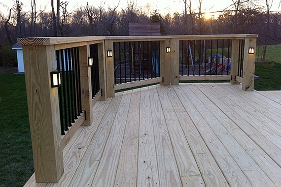 Deck rail lighting ideas the home decoration deck lighting ideas deck deck lighting ideas deck stair lighting houselogic lighting tips aloadofball Gallery