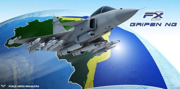 Ilustración producido por CECOMSAER para promover la adquisición de Gripen.