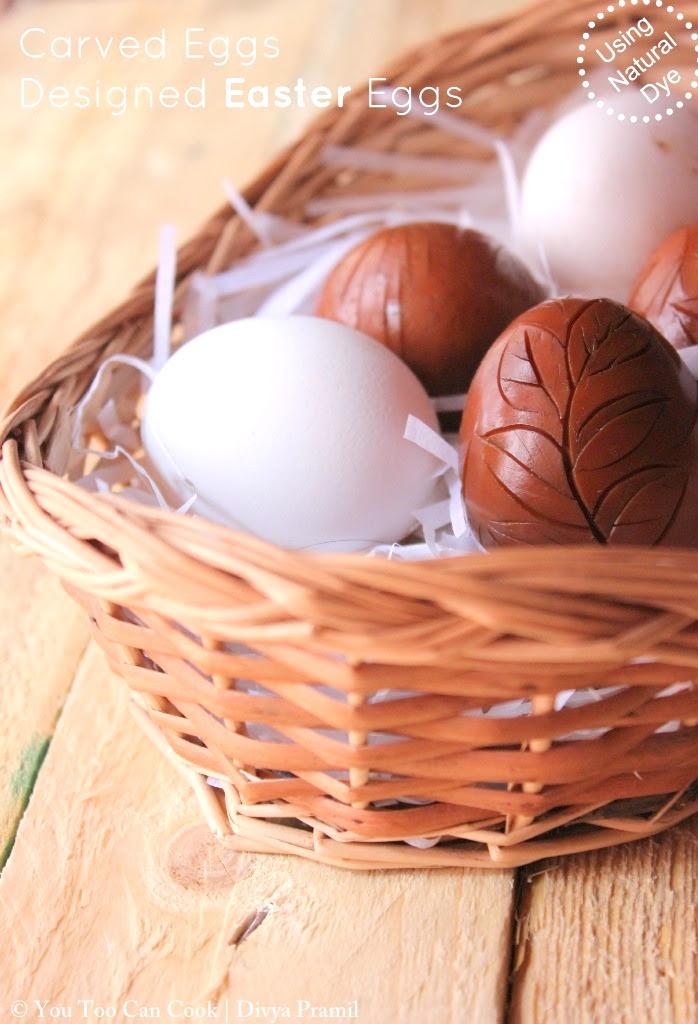 easter eggs using natural dye