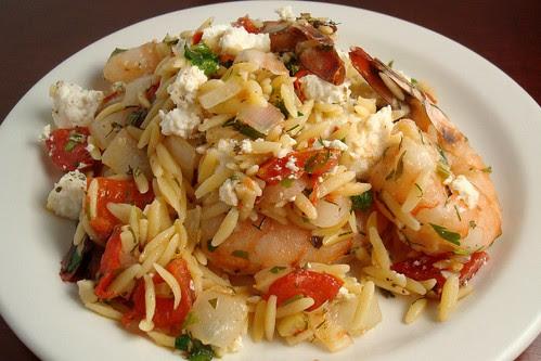 Baked Shrimp and Feta Pasta