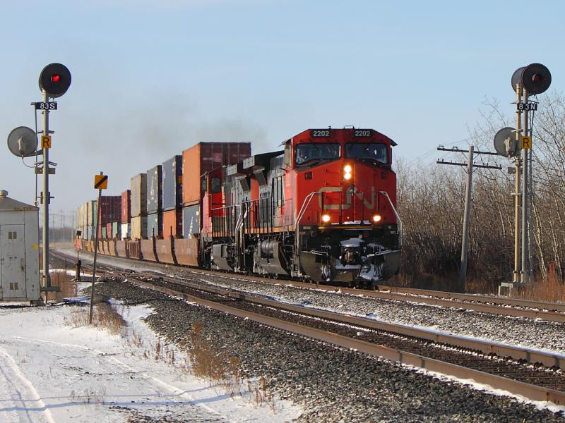 CN 2202 in Winnipeg