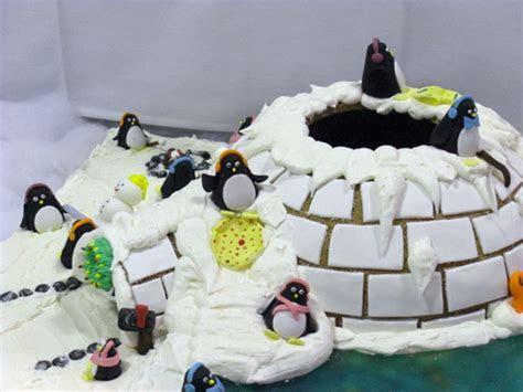 Pin Penguin And Igloo Birthday Cake Star Bakery Liana Tags