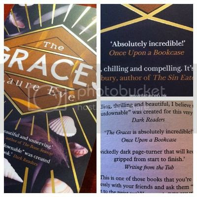 My Quote in and on the back cover of The Graces by Laure Eve