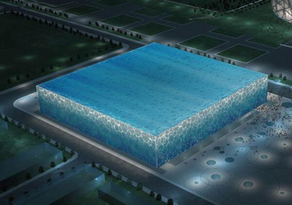 water cube 14 Futuristic Building Designs in China