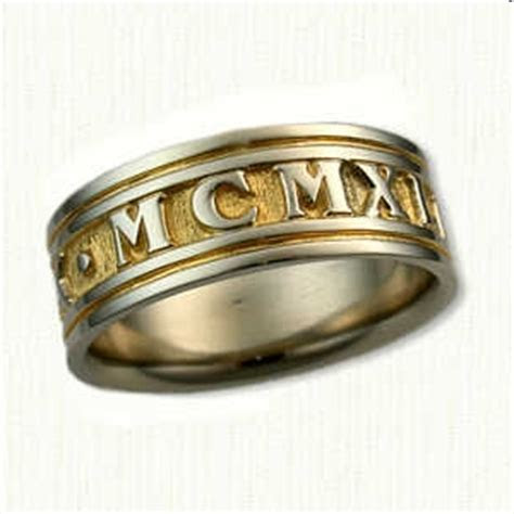 Roman Numeral Wedding Rings & Custom Designed Engagement