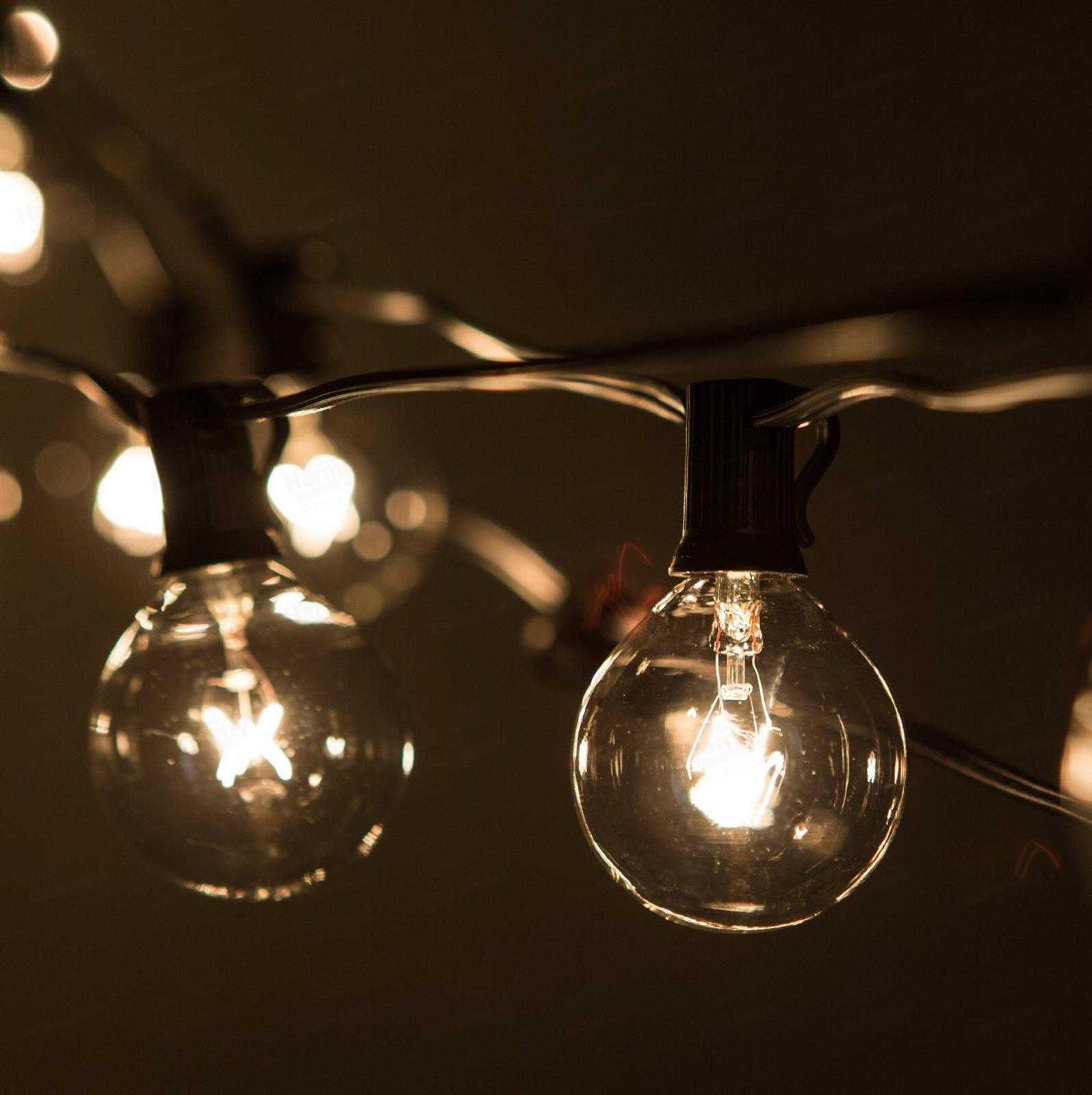 lights lamps string modern black