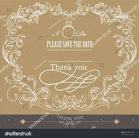 Card Cover Design  Wedding Invitation Card Stock Vector