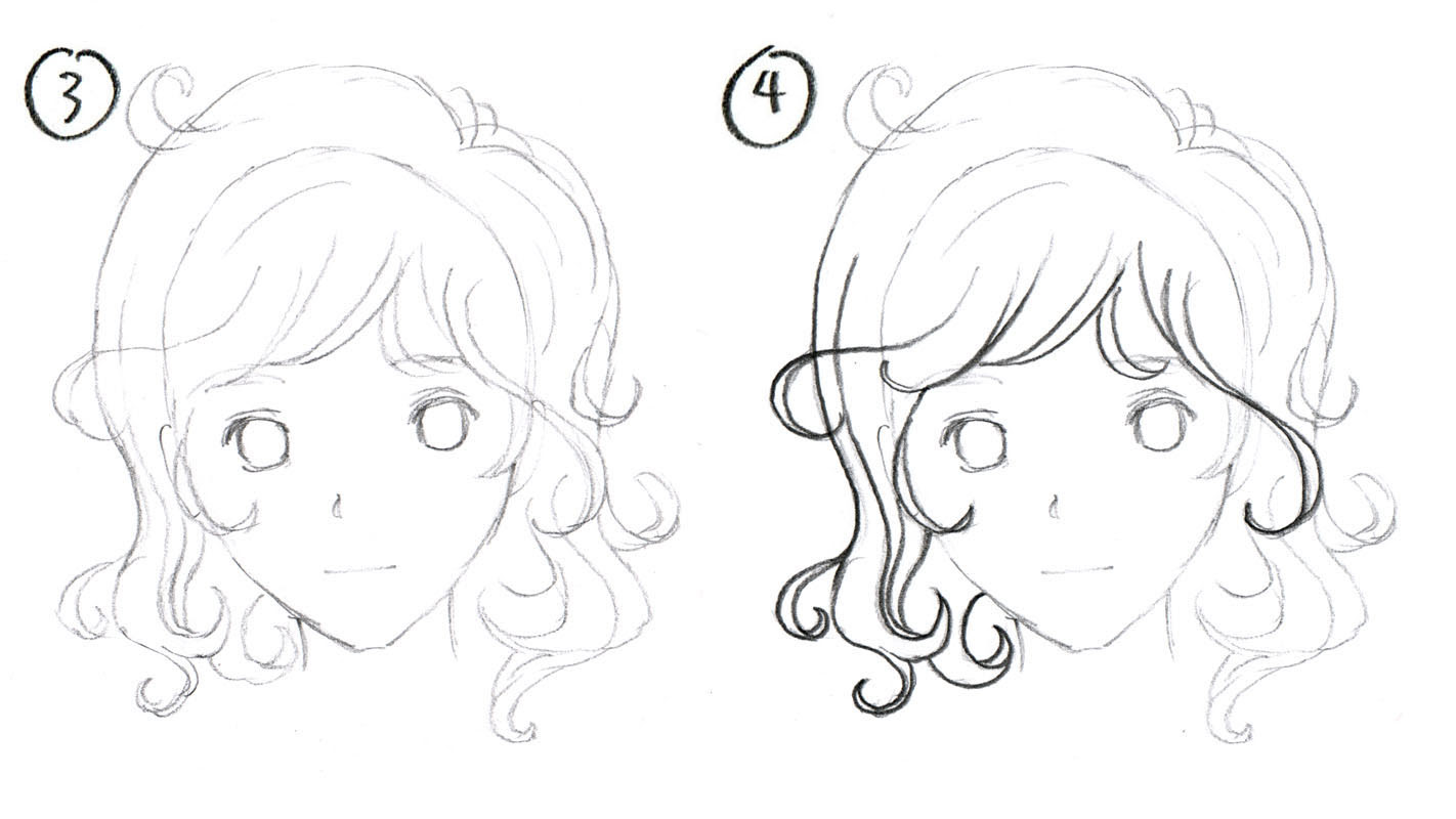 How To Draw Curly Hair Anime Girl