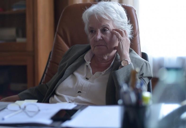 <p>Lucía Topolansky, durante la entrevista.</p>